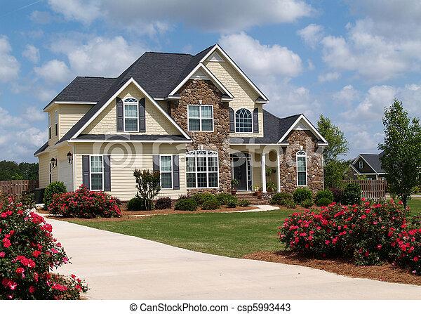 história, dois, lar, residencial - csp5993443