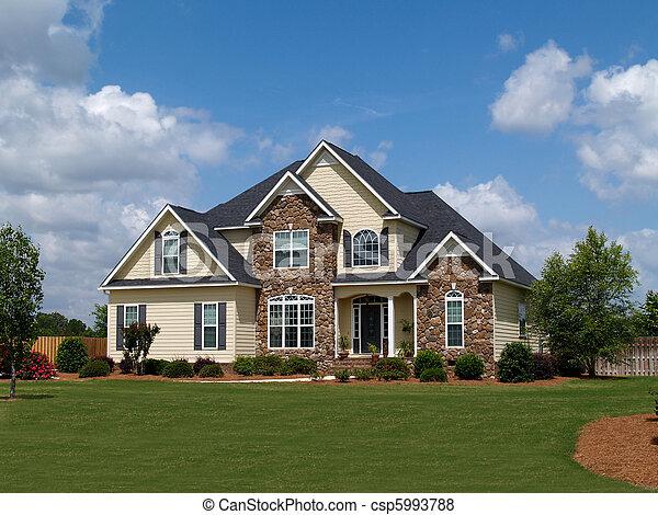 história, dois, lar, residencial - csp5993788