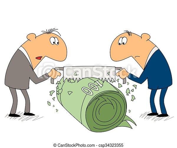 homem negócios, parte, dois, renda - csp34323355