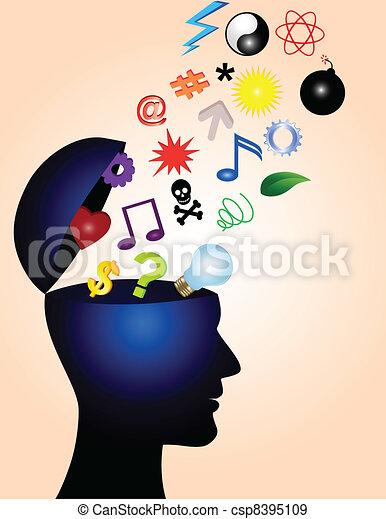 idéias, criativo - csp8395109