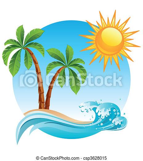 ilha, tropicais - csp3628015