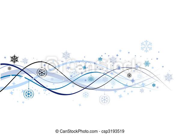 ilustração, natal, fundo, vetorial, desenho, feriado, seu - csp3193519