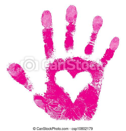 impressão, apoio, mão, pessoas - csp10802179