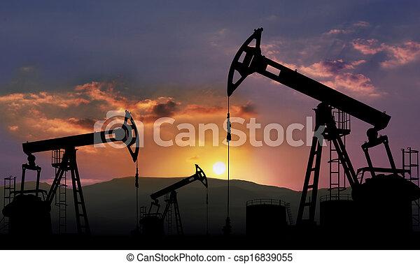 indústria, óleo - csp16839055