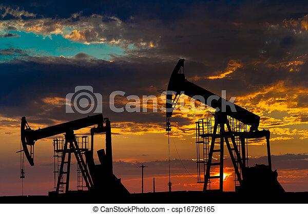 indústria, óleo, equipment., pumps. - csp16726165