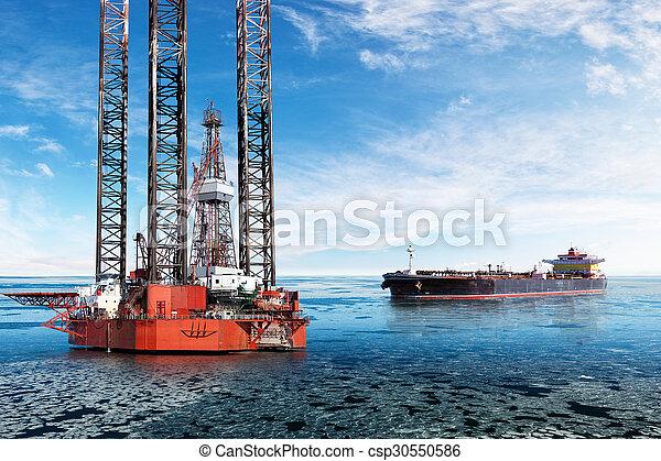 indústria, óleo - csp30550586
