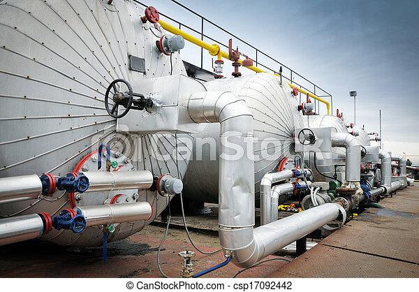 indústria, óleo, gás - csp17092442