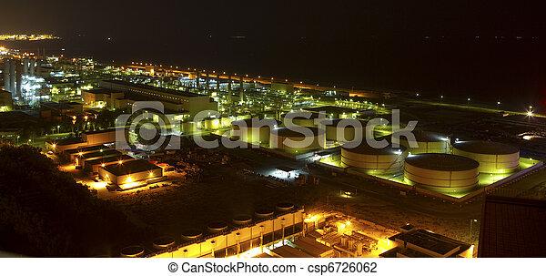 indústria, noturna - csp6726062