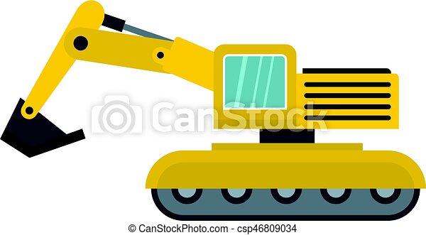 isolado, escavador, ícone - csp46809034