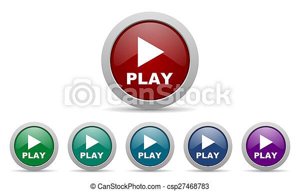 jogo, ícone - csp27468783