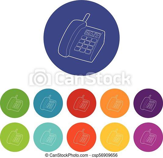 jogo, ícones, cor, apoio, telefone, vetorial - csp56909656