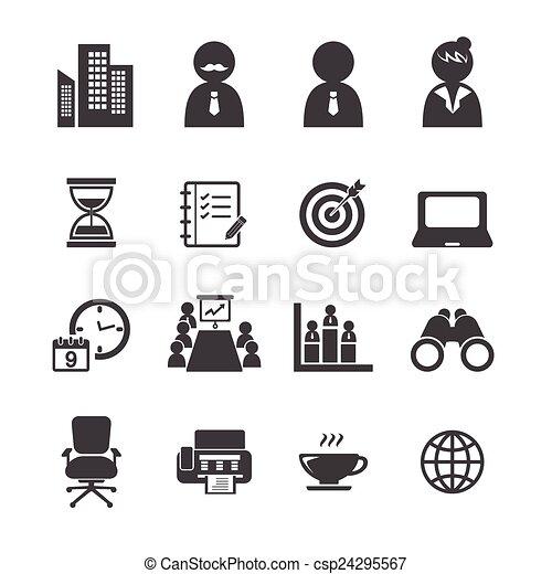 jogo, escritório, ícone - csp24295567