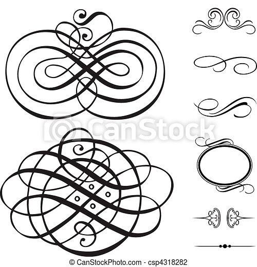 jogo redemoinho, ornamento, vetorial - csp4318282