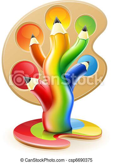 lápis, conceito, arte, cor, árvore, criativo - csp6690375