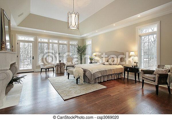 lar, novo, construção, mestre, quarto - csp3069020