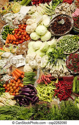 legumes frescos, mercado asiático - csp2282090