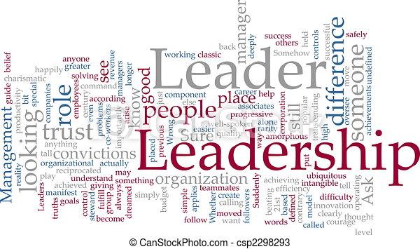 liderança, palavra, nuvem - csp2298293