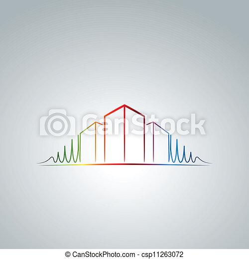 logotipo, apartamento - csp11263072