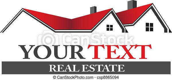 logotipo, bens imóveis - csp8865094