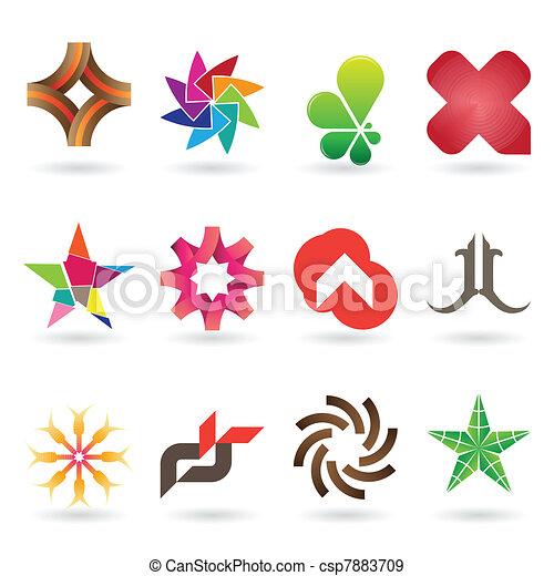 logotipo, contemporâneo, cobrança, ícone - csp7883709