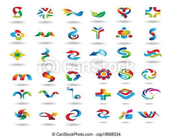 logotipo, elementos, desenho - csp18698534