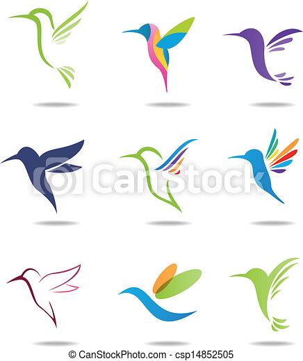 logotipo, hummingbird - csp14852505