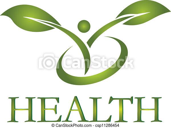 logotipo, saudável, vetorial, vida - csp11286454