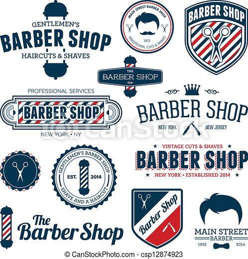 loja, barbeiro, gráficos - csp12874923