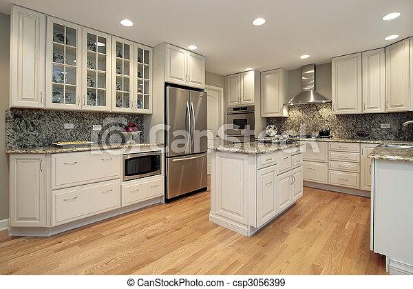 luz, colorido, cabinetry, cozinha - csp3056399