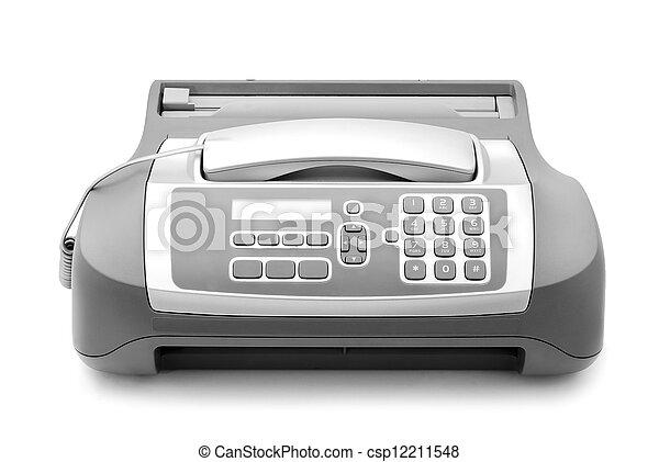 máquina, fax - csp12211548
