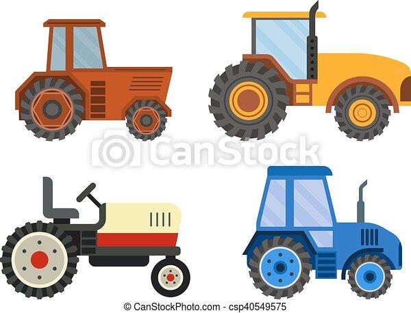 máquina, vetorial, technic, harvester - csp40549575