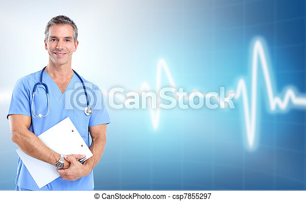 médico, cardiologist., saúde, care., doutor - csp7855297