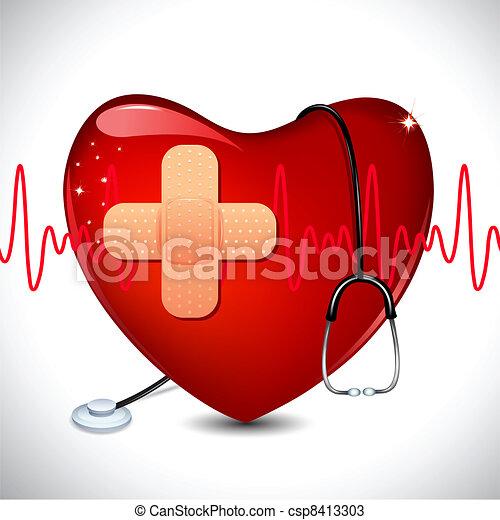 médico, fundo - csp8413303
