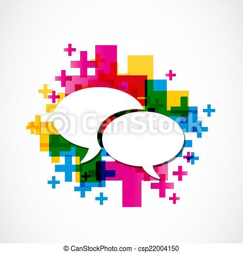 mídia, social, fala, grupo, positivo - csp22004150