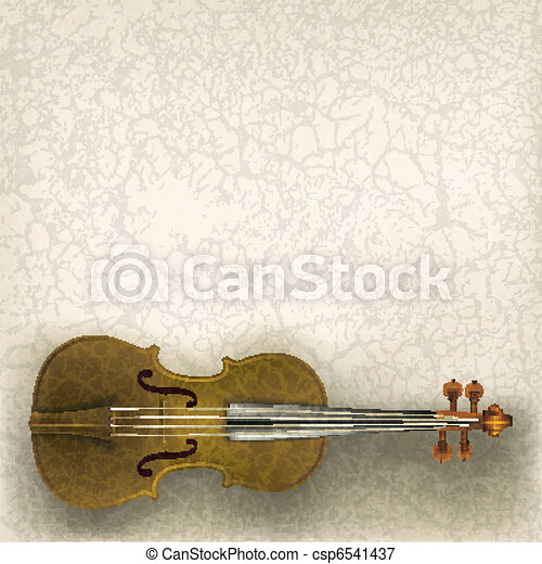 música, abstratos, grunge, fundo, violino - csp6541437