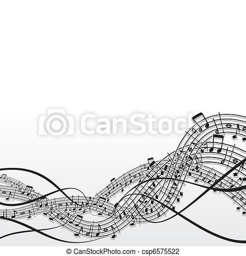 música, fundo - csp6575522