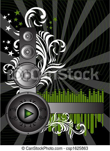 música, fundo - csp1625863
