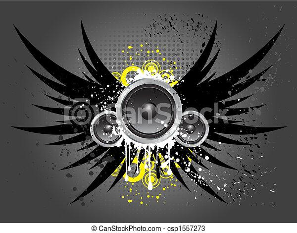 música, grunge - csp1557273