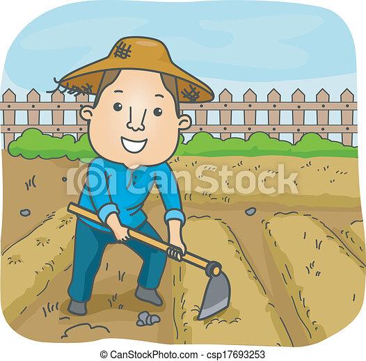 macho, agricultor - csp17693253