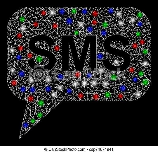 malha, sms, 2d, chama, luminoso, manchas - csp74674941