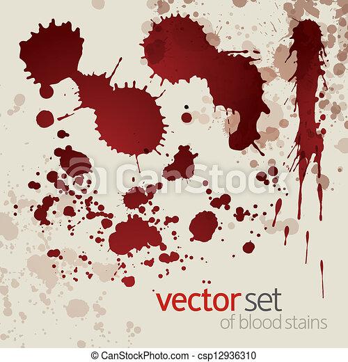 manchas, jogo, splattered, sangue, 7 - csp12936310