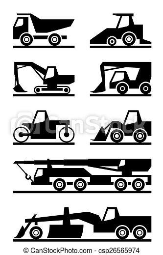 maquinaria construção, estrada - csp26565974