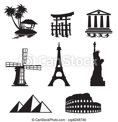 marcos, ícones - csp6248746