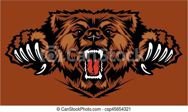 mascote, urso - csp45654321