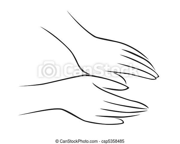 massagem, mão - csp5358485