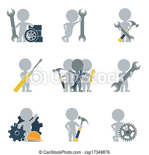 mecanica, apartamento, -, pessoas - csp17349876