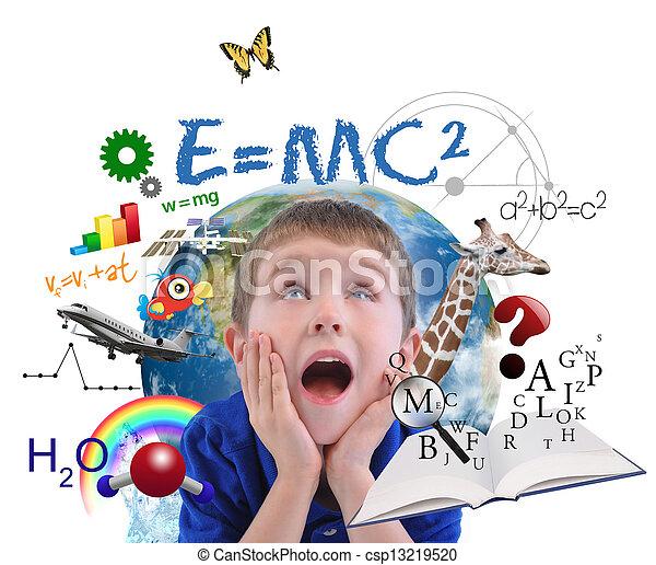 menino, branca, educação, escola, aprendizagem - csp13219520