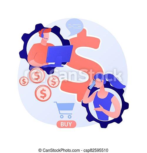 metáfora, conceito, loja, cliente, online, vetorial, apoio - csp82595510