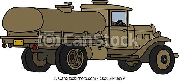 militar, caminhão tanque, clássicas - csp66443999