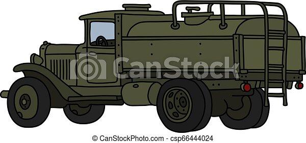 militar, caminhão tanque, clássicas - csp66444024